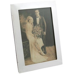 1911 Antique George V Sterling Silver Photograph Frame