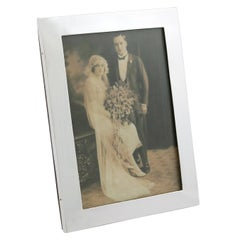 1911 Antique George V Sterling Silver Photograph Frame