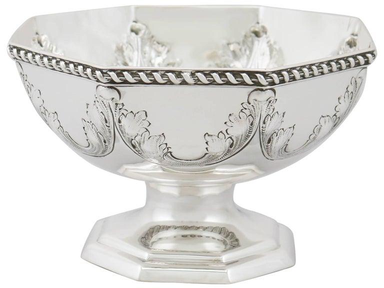 Antique George V Sterling Silver Presentation Bowl, 1911 For Sale 1
