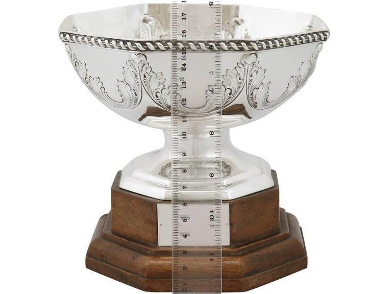 Antique George V Sterling Silver Presentation Bowl, 1911 For Sale 4