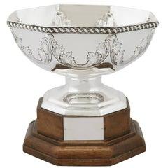 1911 Antique Sterling Silver Presentation Bowl