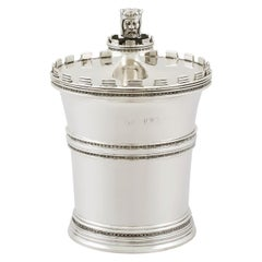 1912 Antique Sterling Silver Tea Caddy