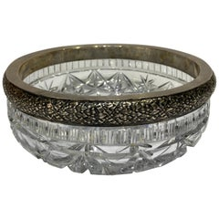 1913- 1922 Sterling Silver and Crystal Fruit Bowl