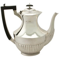 1913 George V Queen Anne Style Sterling Silver Coffee Pot