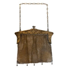 1914 Antique Sterling Silver Mesh Purse