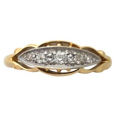 1914 Diamond and Yellow Gold Cocktail Ring