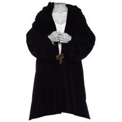 1915S Poiret Inspired Edwardian Overzised Velvet Coat