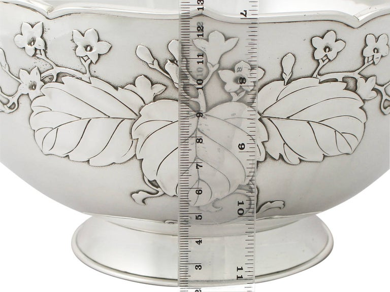 Antique 1917 Japanese Silver Presentation Bowl In Excellent Condition For Sale In Jesmond, Newcastle Upon Tyne