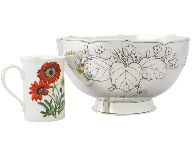 Antique 1917 Japanese Silver Presentation Bowl For Sale 4