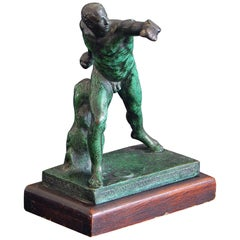 1917 Sports Trophy for IC4A by Roman Bronze Works, Two Lap Relay Race