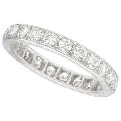 1.92 Carat Diamond and White Gold Full Eternity Ring, Antique, circa 1930