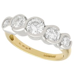1.92 Carat Diamond Gold Five-Stone Ring