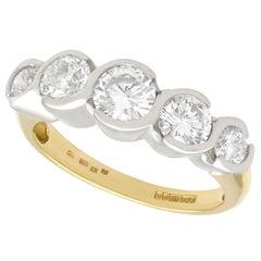 1.92 Carat Diamond Gold Five-Stone Ring