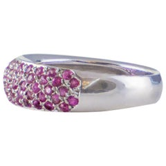 19.2 Karat Gold Ring with Shiny Stones and Pink Beryls