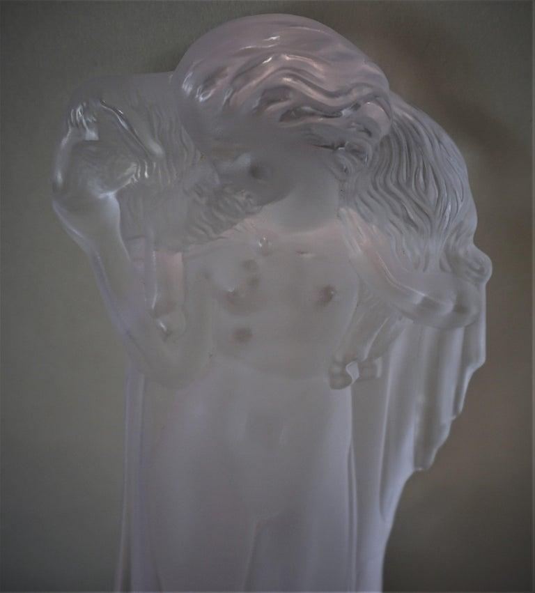 1920-1930 Sèvres Art Deco Crystal Sculpture Table Lamp For Sale 5