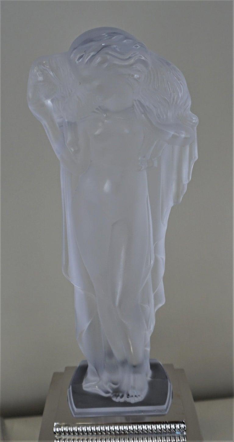 1920-1930 Sèvres Art Deco Crystal Sculpture Table Lamp For Sale 9