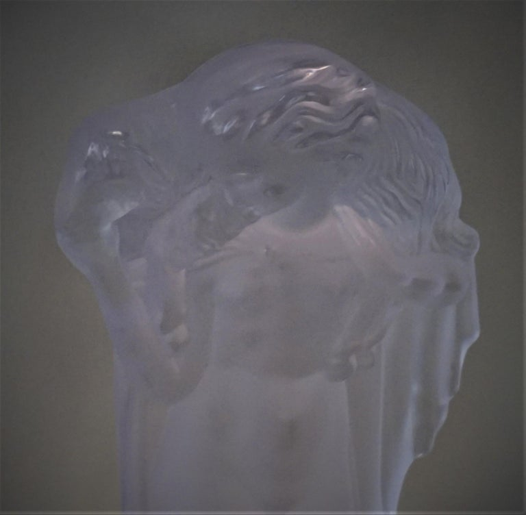 1920-1930 Sèvres Art Deco Crystal Sculpture Table Lamp For Sale 1