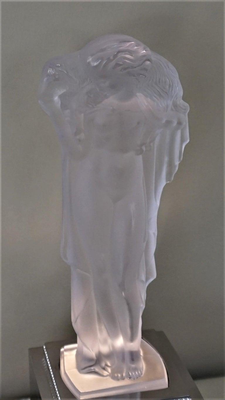 1920-1930 Sèvres Art Deco Crystal Sculpture Table Lamp For Sale 2