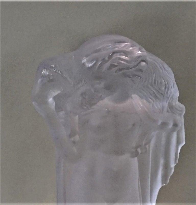 1920-1930 Sèvres Art Deco Crystal Sculpture Table Lamp For Sale 3