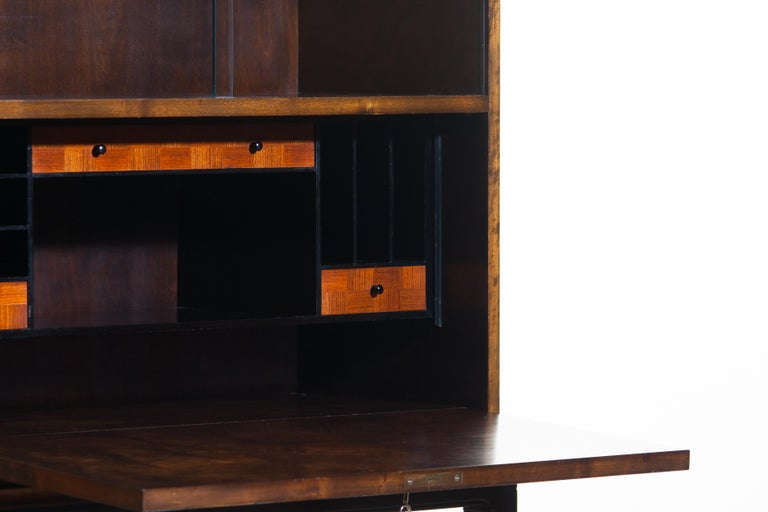 1920, Art Deco Secretaire/High Boy by Axel Einar Hjorth for Nordiska Kompaniet For Sale 7