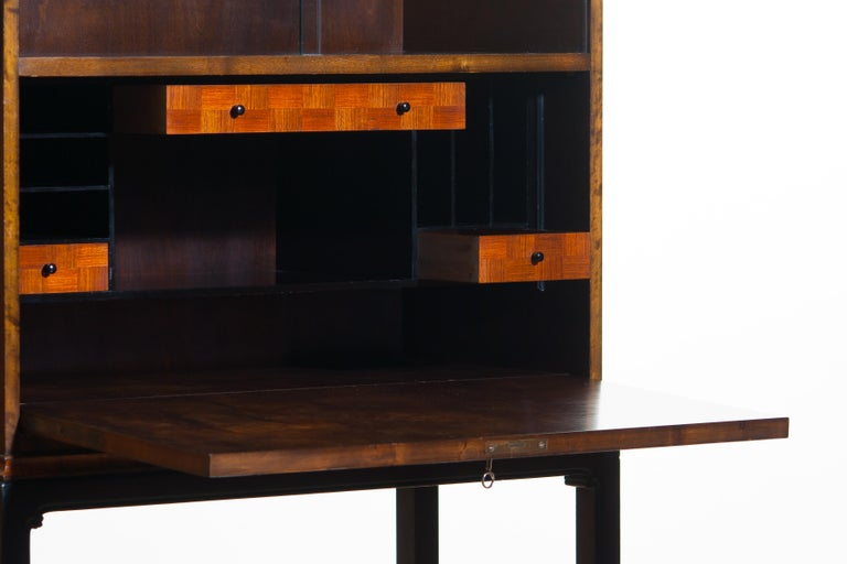 1920, Art Deco Secretaire/High Boy by Axel Einar Hjorth for Nordiska Kompaniet For Sale 8