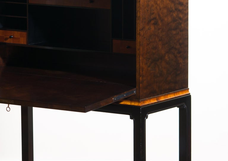 1920, Art Deco Secretaire/High Boy by Axel Einar Hjorth for Nordiska Kompaniet For Sale 10