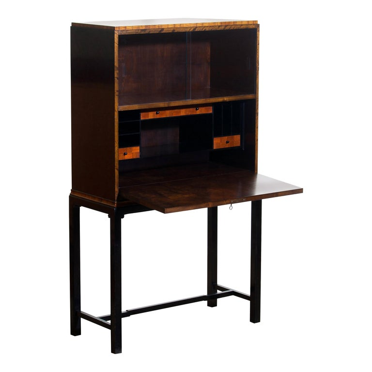 1920s, unique secretaire designed by Axel Einar Hjorth and manufactured in 1924 by Nordiska Kompaniet, numbered L228.