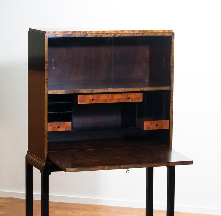 Swedish 1920, Art Deco Secretaire/High Boy by Axel Einar Hjorth for Nordiska Kompaniet For Sale