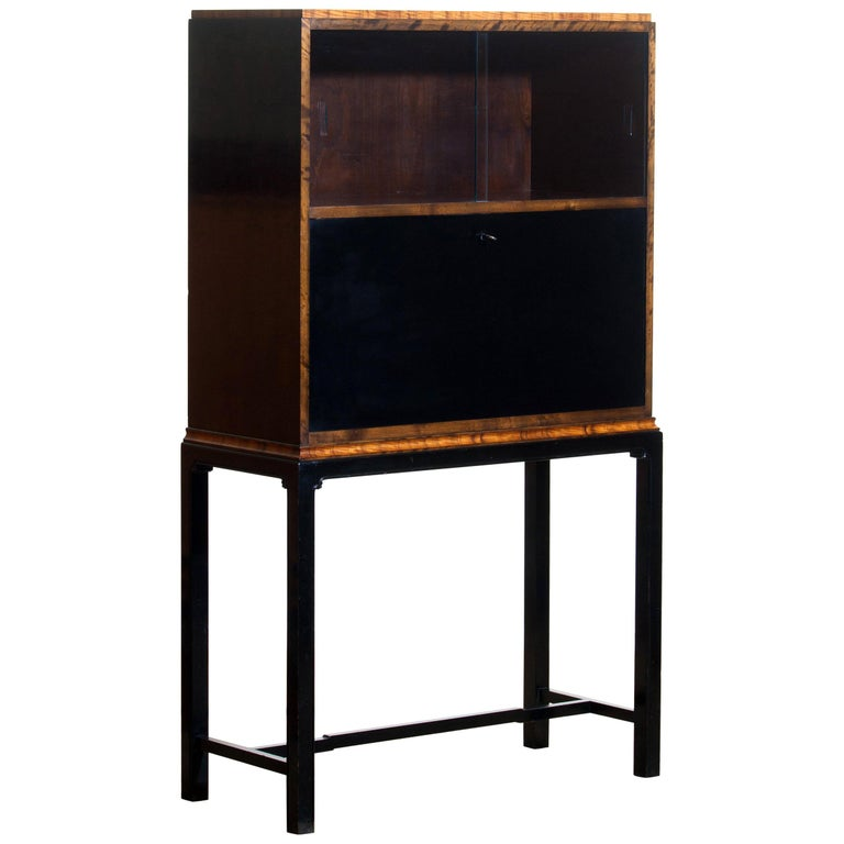 1920, Art Deco Secretaire/High Boy by Axel Einar Hjorth for Nordiska Kompaniet In Good Condition For Sale In Silvolde, Gelderland