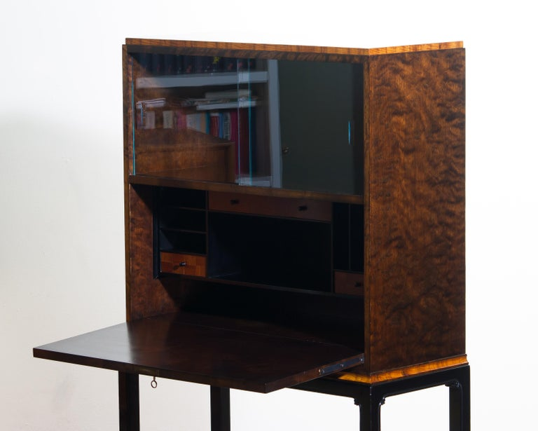Early 20th Century 1920, Art Deco Secretaire/High Boy by Axel Einar Hjorth for Nordiska Kompaniet For Sale