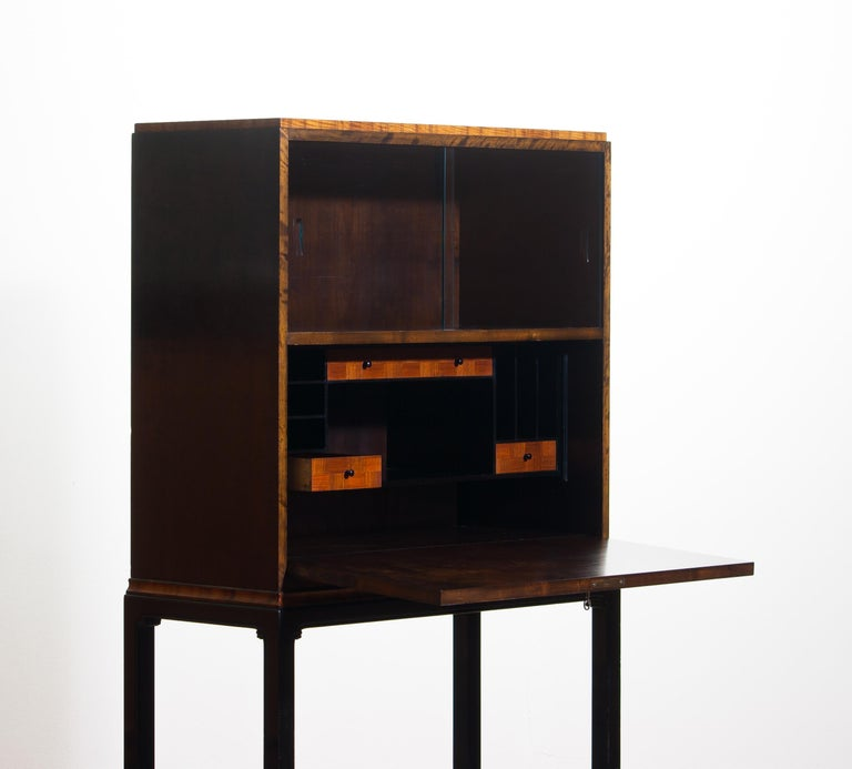 1920, Art Deco Secretaire/High Boy by Axel Einar Hjorth for Nordiska Kompaniet For Sale 1