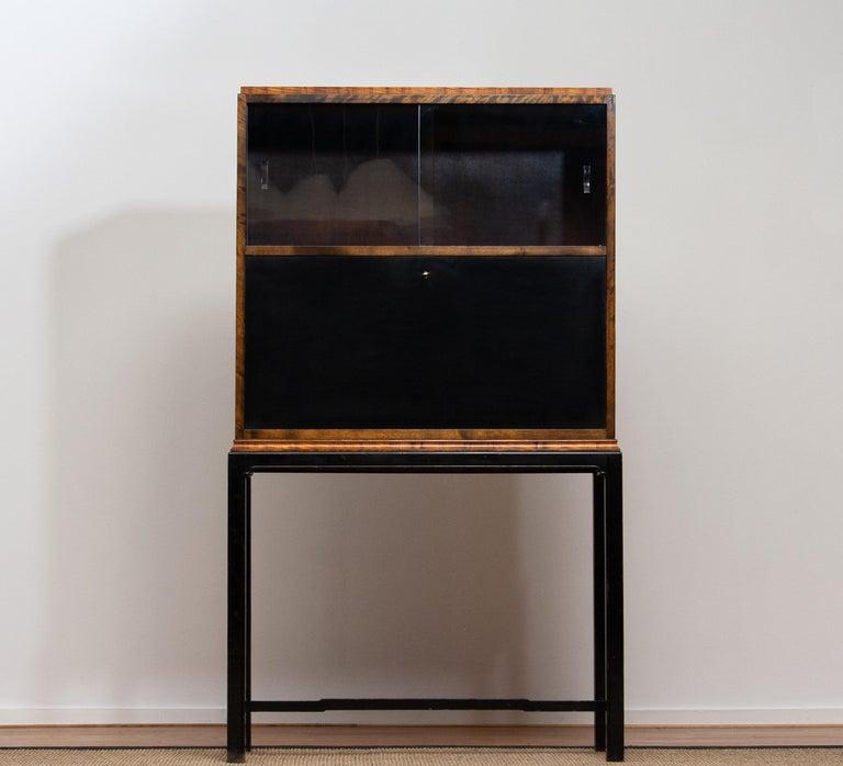 Glass 1920, Art Deco Secrétaire or Dry Bar by Axel Einar Hjorth for Nordiska Kompaniet