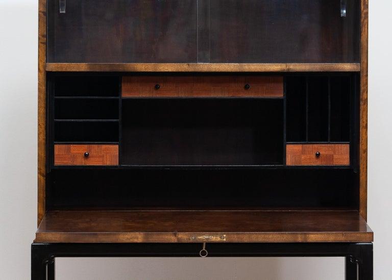 1920, Art Deco Secrétaire or Dry Bar by Axel Einar Hjorth for Nordiska Kompaniet 1