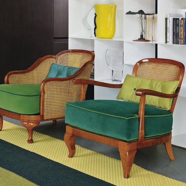 Italian 1920 Brown Armchair For Sale