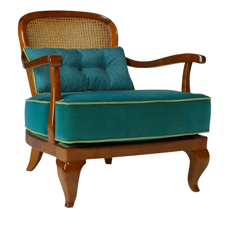 1920 Brown Armchair In New Condition For Sale In Milan, IT