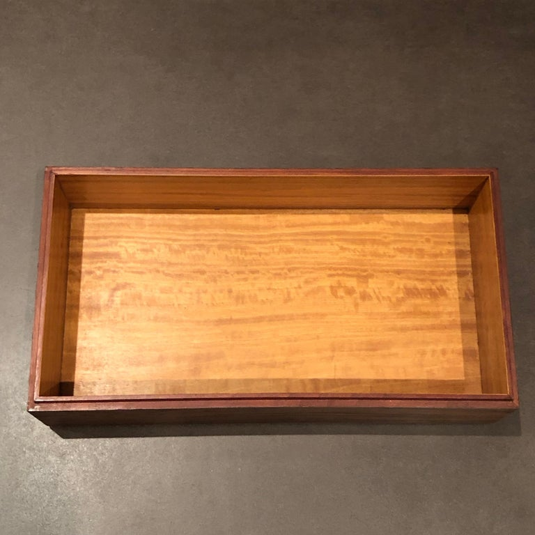 1920 Emile Galle Wooden Box Flowers and Leaves Marquetry Wood In Good Condition For Sale In Boulogne Billancourt, FR
