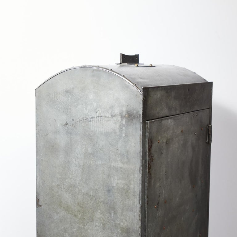 1920 English Industrial Metal Cabinet For Sale 2