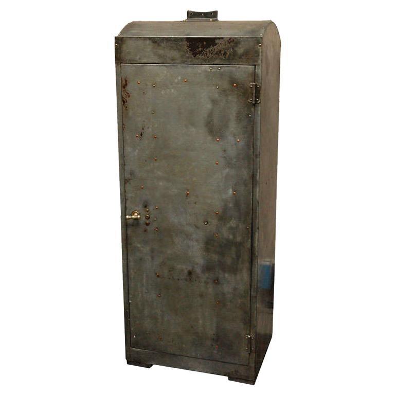 1920 English Industrial Metal Cabinet