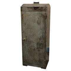 1920 English Industrial Metal Cabinet