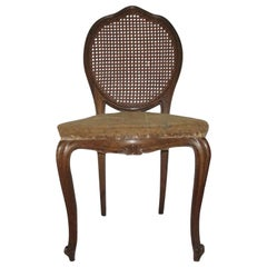 1920 French Walnut Cane Back Chair