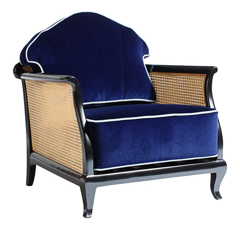Italian 1920 Purple Armchair For Sale