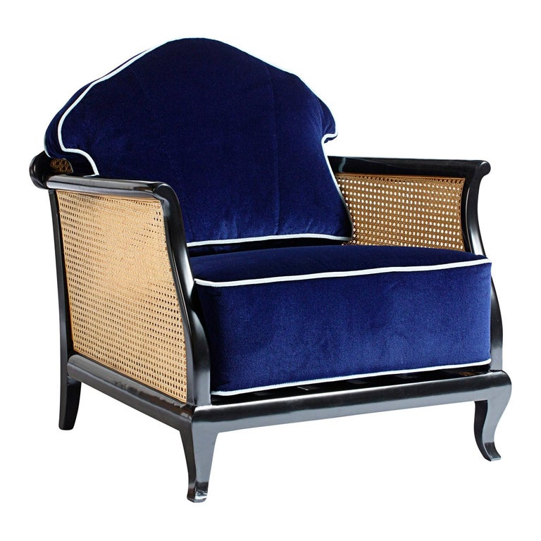 1920 Purple Armchair For Sale