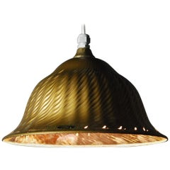 1920 Rare Mercury Xray Shade Golden Pendant Light