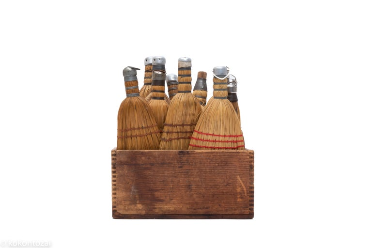 American 1920 Set of Small Amish Broom Set from USA For Sale
