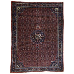 1920 Vintage Persian Bidjar Rug, Full Pile and Clean