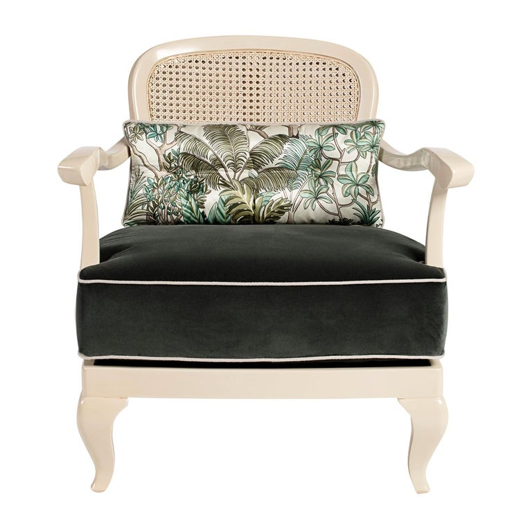 1920 White Armchair For Sale