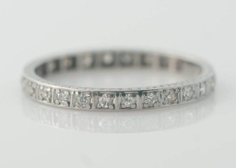 a74b91770fa 1920s 0.40 Carat Diamond and 14 Karat Gold Eternity Band Wedding Ring