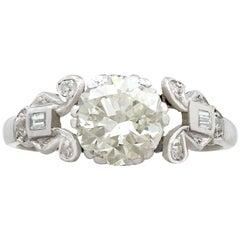 1920er Jahre 1.50 Karat Diamant und Platinum Solitaire Verlobungsring