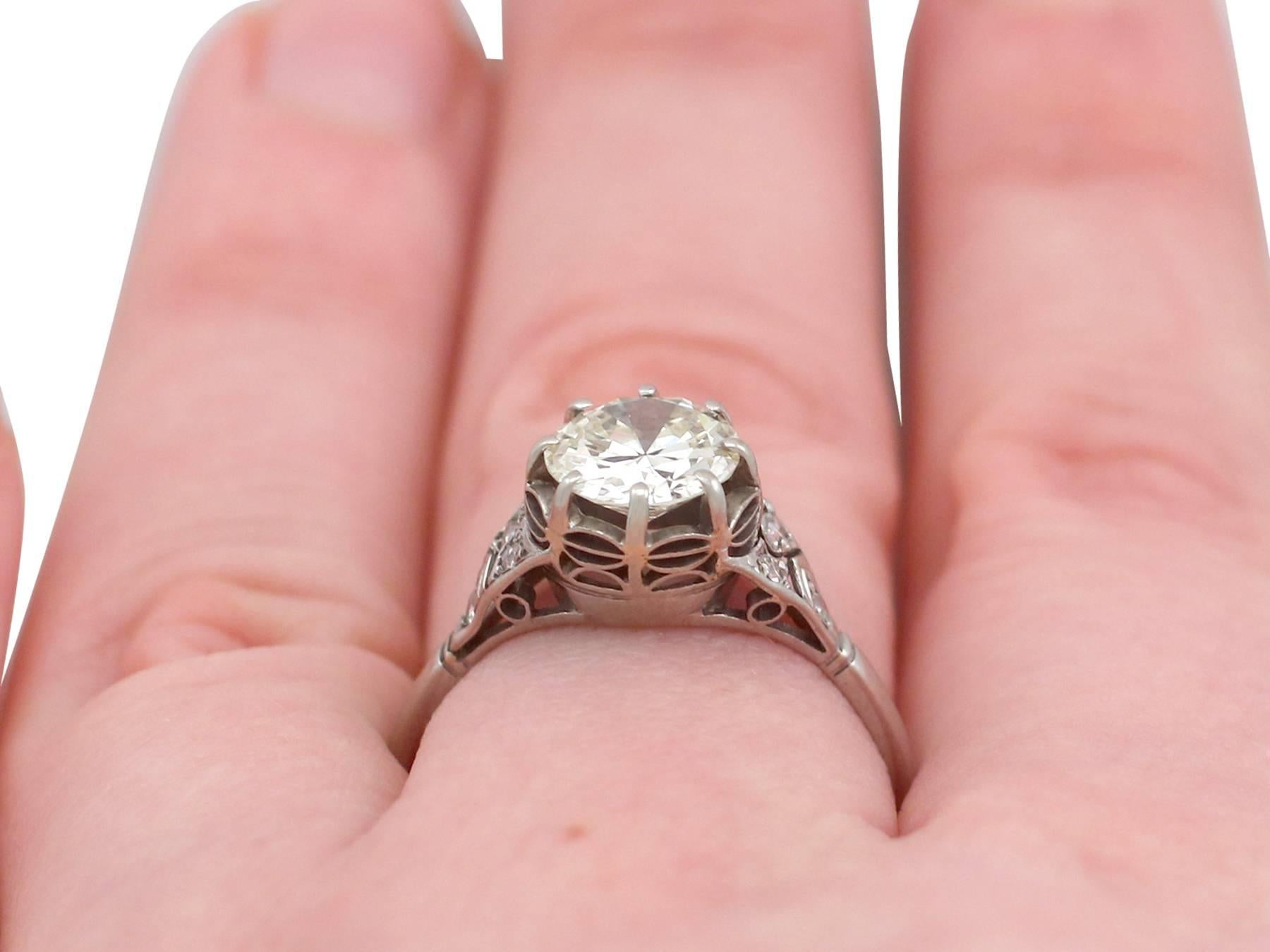 1920\'s 1.60 Carat Diamond and White Gold Solitaire Ring For Sale at ...
