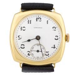1920s 18 Karat Yellow Gold Longines Wristwatch